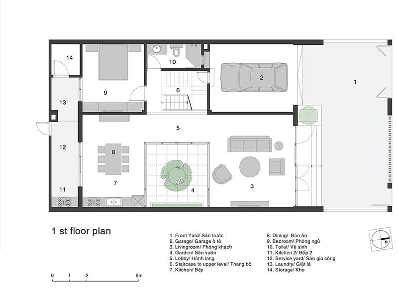 mặt bằng biệt thự 2 tầng 2