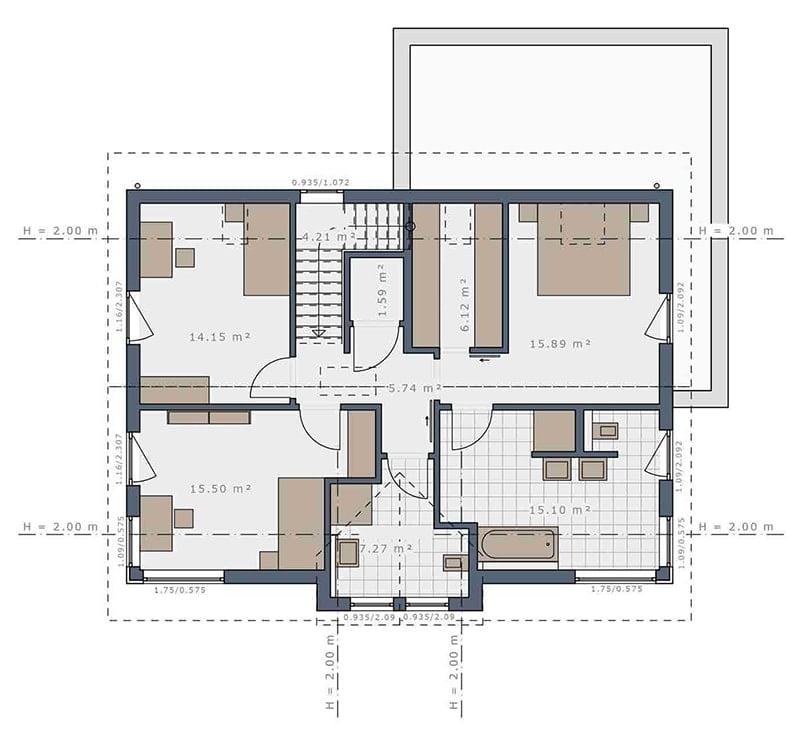 mặt bằng biệt thự 2 tầng 19