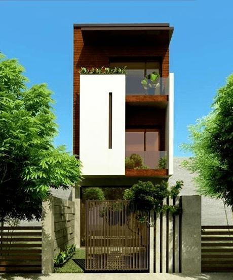 Mặt tiền mẫu nhà phố đẹp 3 tầng hiện đại 9