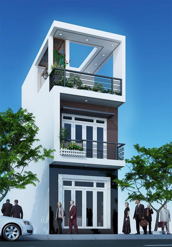 Mặt tiền mẫu nhà phố đẹp 3 tầng hiện đại 7