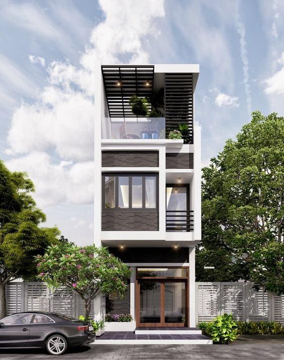 mẫu nhà phố mặt tiền 5m 3 tầng 14