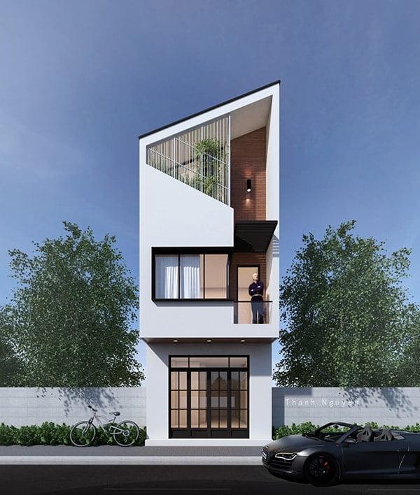 mặt tiền nhà phố 5m 3 tầng 10