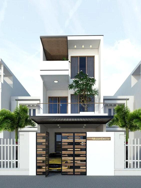 mẫu nhà phố mặt tiền 5m 3 tầng 16