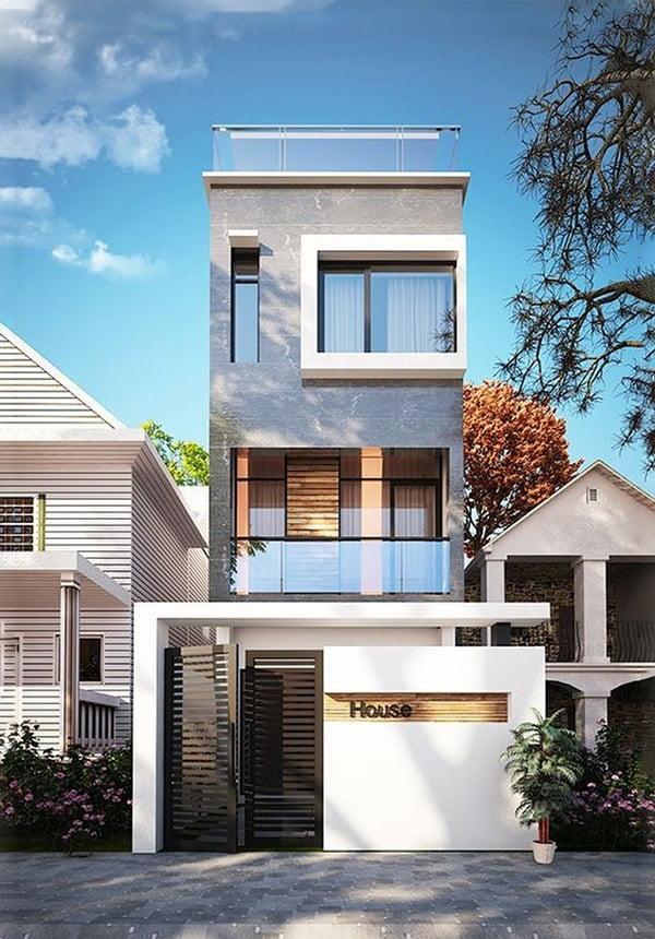 mẫu nhà phố mặt tiền 5m 3 tầng 17