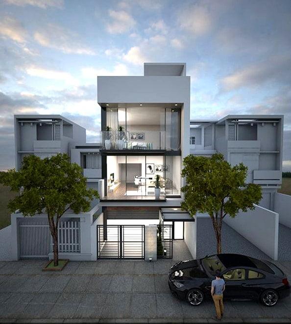 mẫu nhà phố mặt tiền 5m 3 tầng 18