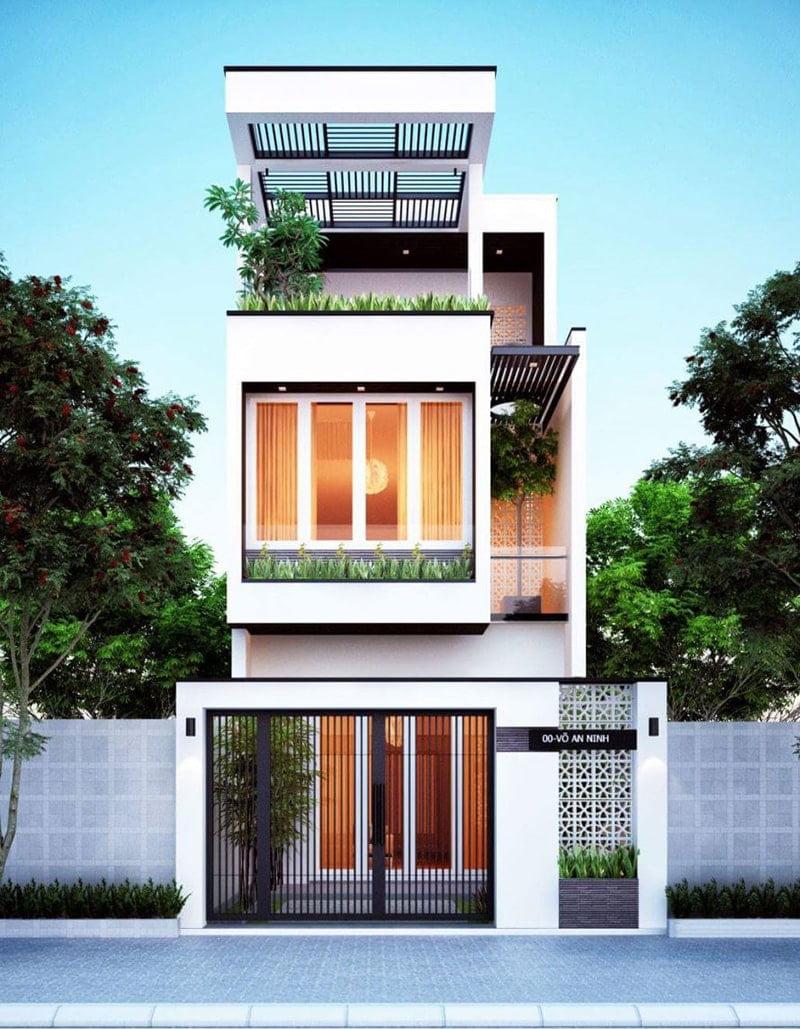 mẫu nhà phố mặt tiền 5m 3 tầng 19