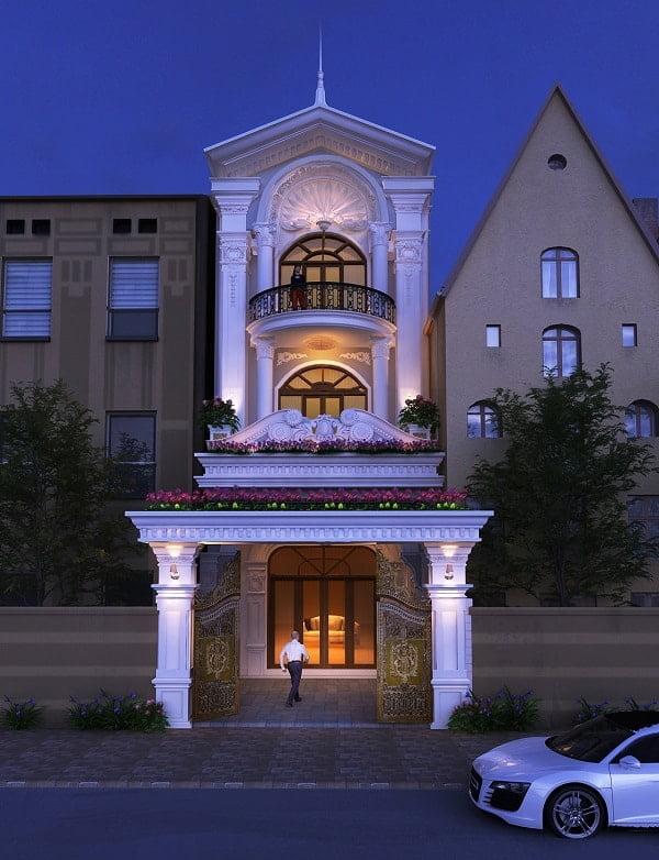 mẫu nhà phố mặt tiền 5m 3 tầng 21