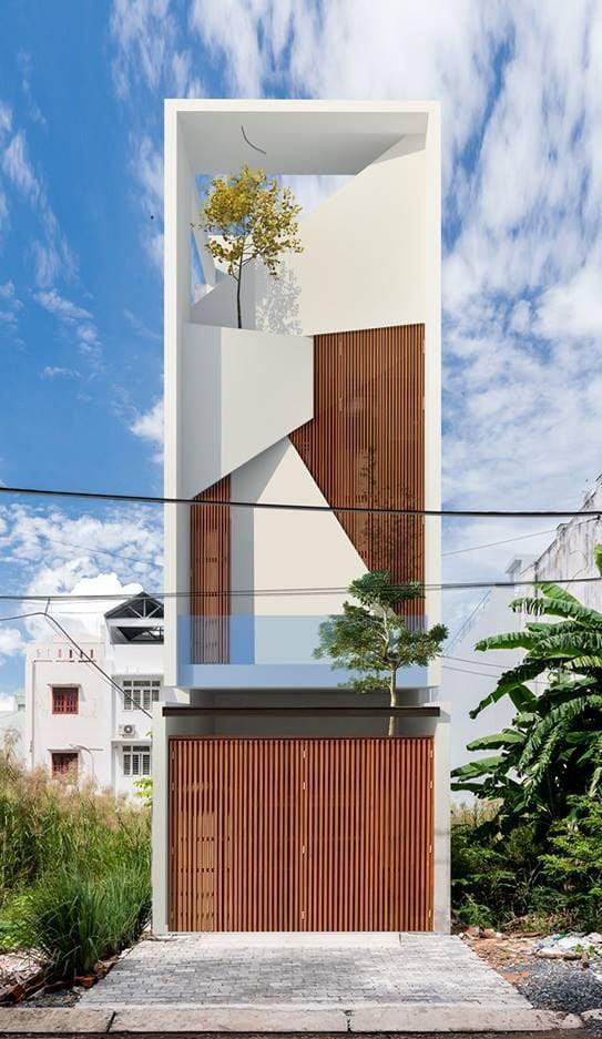 mẫu nhà phố mặt tiền 5m 3 tầng 6