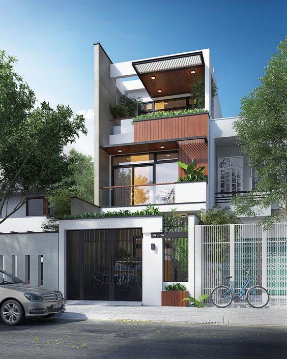 mẫu nhà phố mặt tiền 5m 3 tầng 13