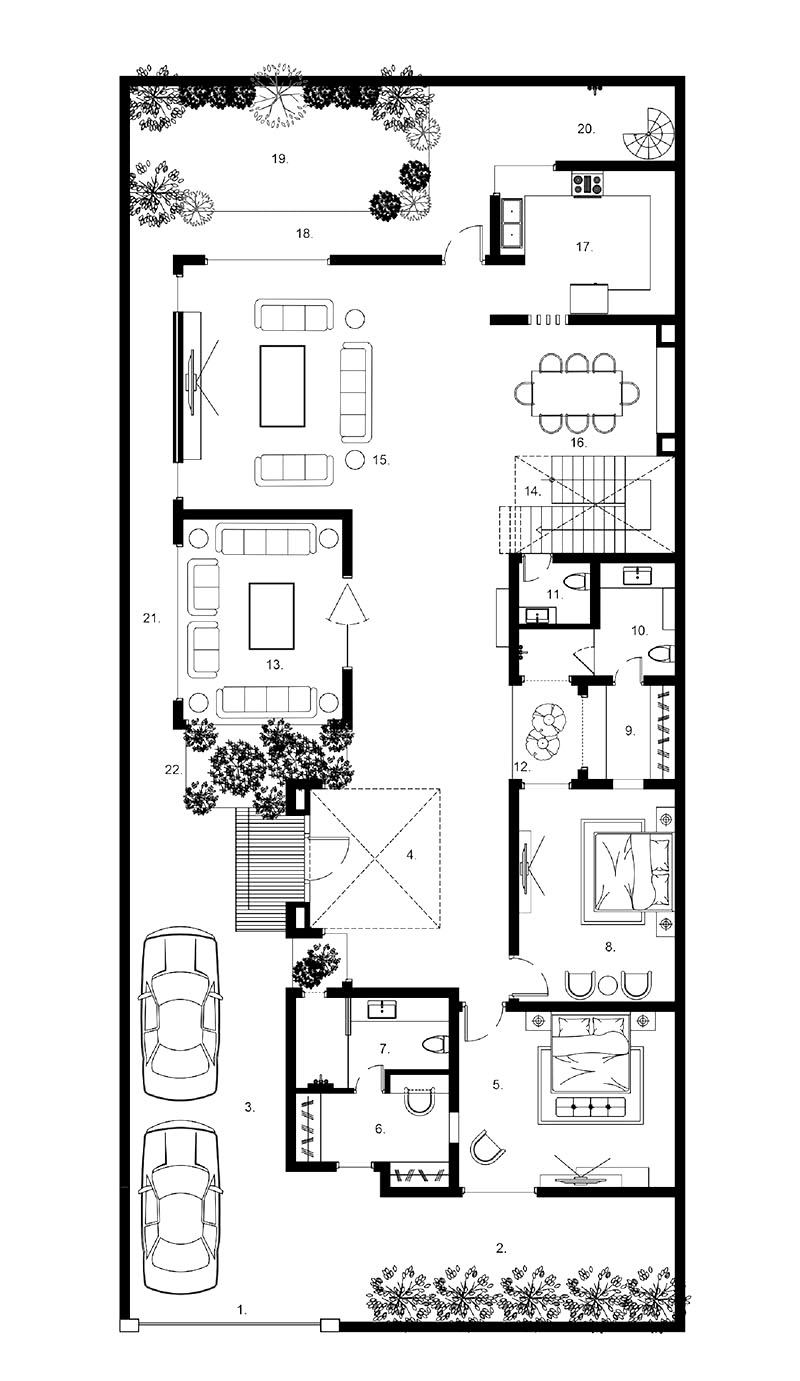 mẫu thiết kế biệt thự 2 tầng 200m2 hiện đại 3