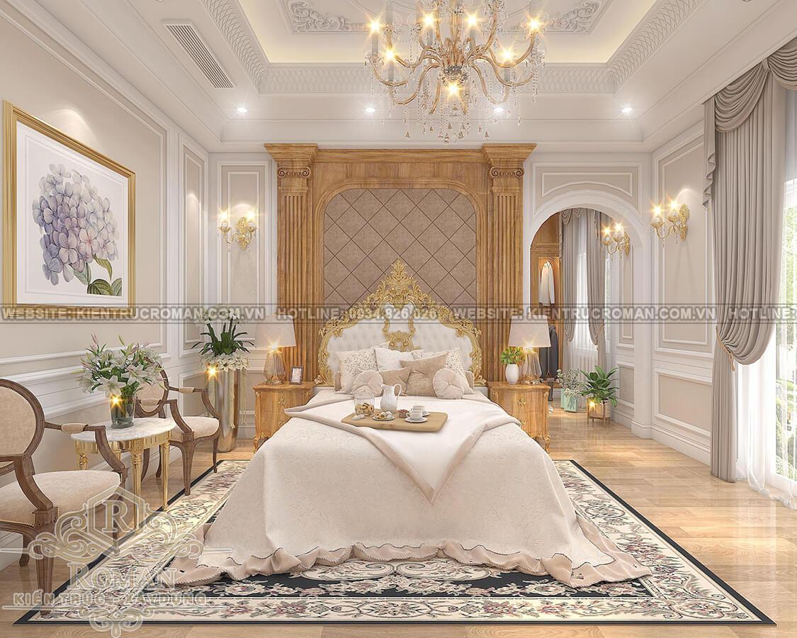 mẫu biệt thự 2 tầng kiểu Pháp phòng master