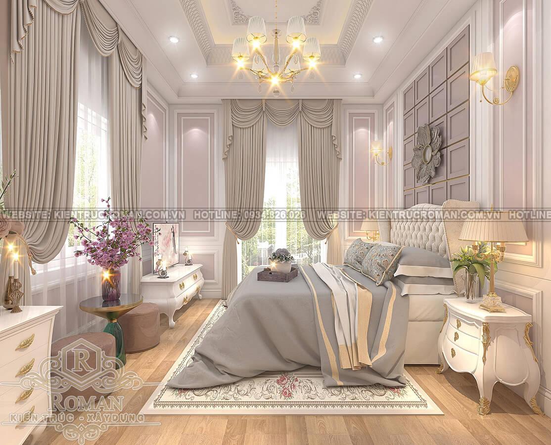 mẫu biệt thự 2 tầng kiểu Pháp phòng ngủ