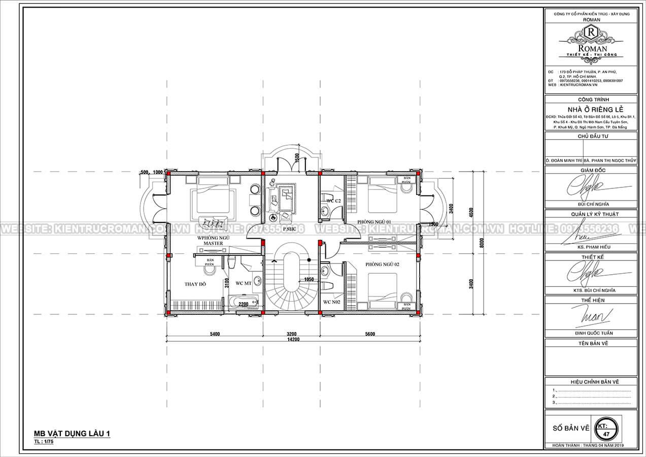 mẫu biệt thự 2 tầng kiểu pháp