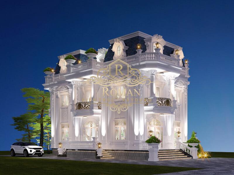 mẫu biệt thự 2 tầng kiểu Pháp đại diện