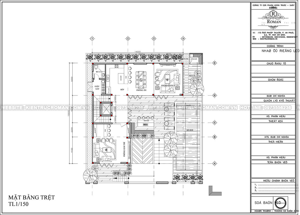 mẫu biệt thự 3 tầng hiện đại 17