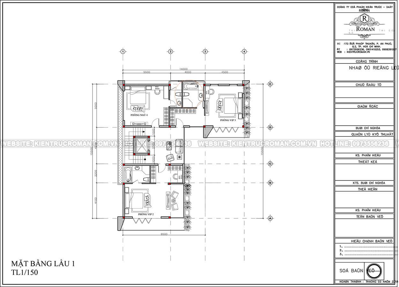 mẫu biệt thự 3 tầng hiện đại 18