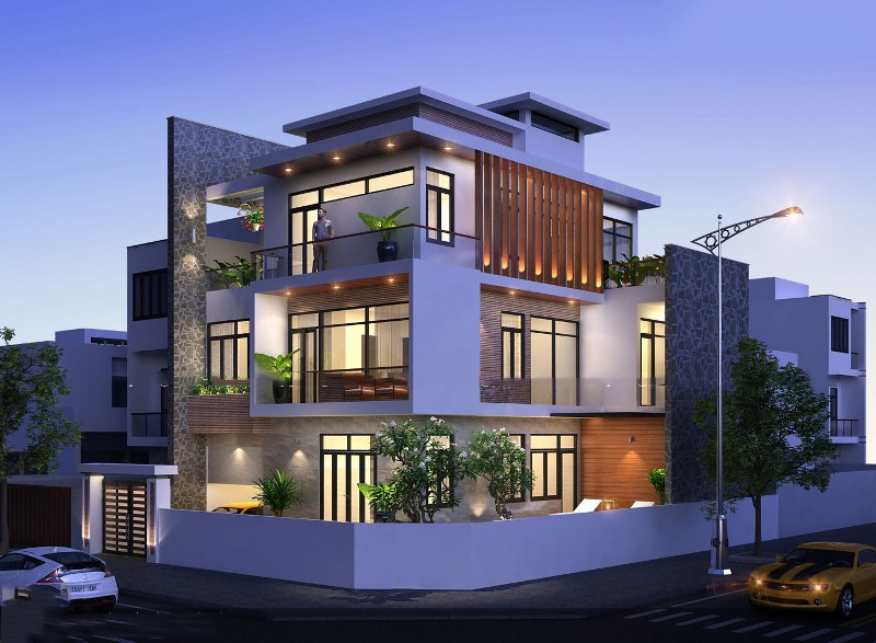 thiết kế mẫu biệt thự đẹp 3 tầng 3