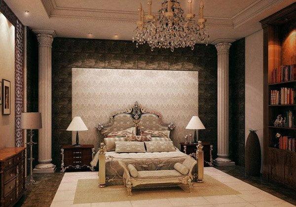 phòng ngủ mẫu biệt thự cổ điển đẹp năm 2018