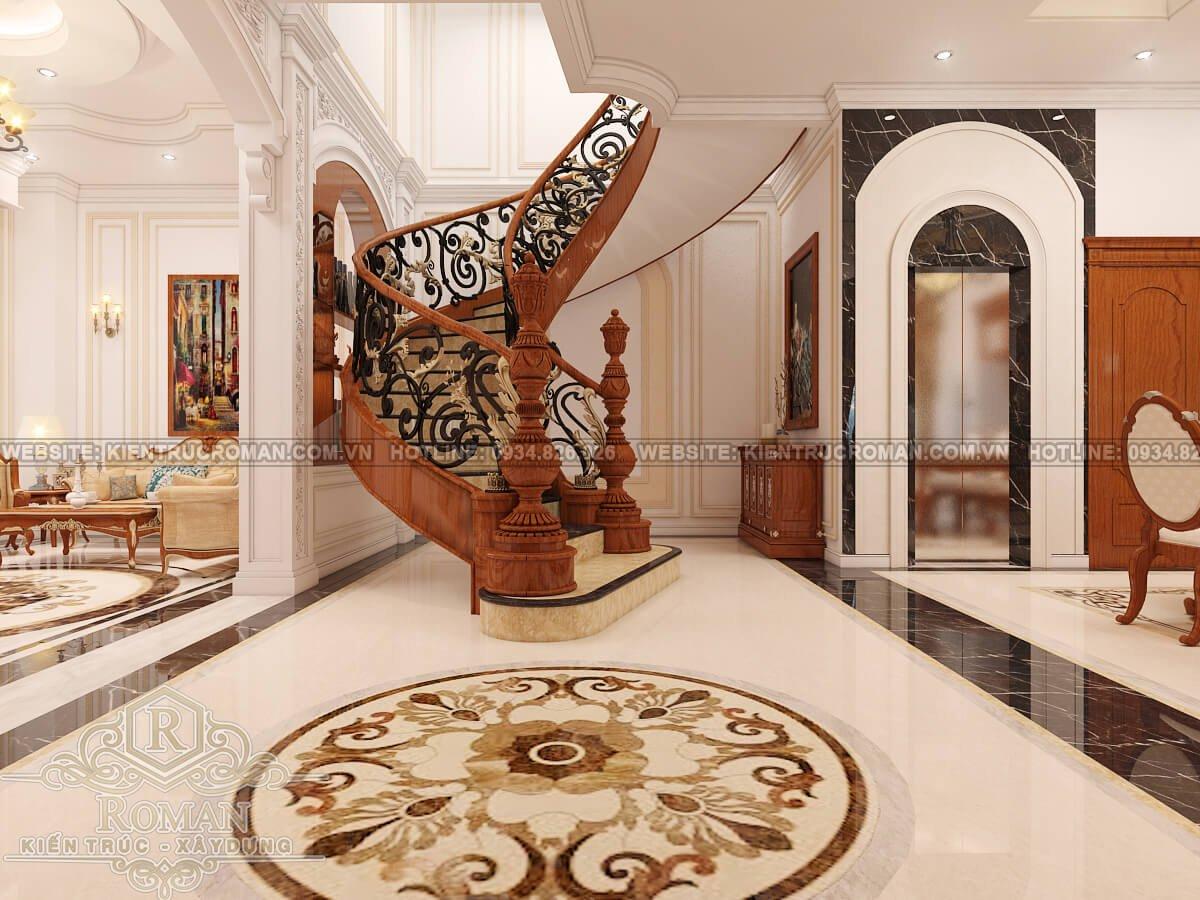 thiết kế nội thất phòng khách phong cách cổ điển 6