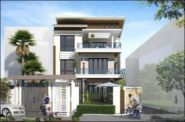 mẫu biệt thự hiện đại 3 tầng mái bằng 5
