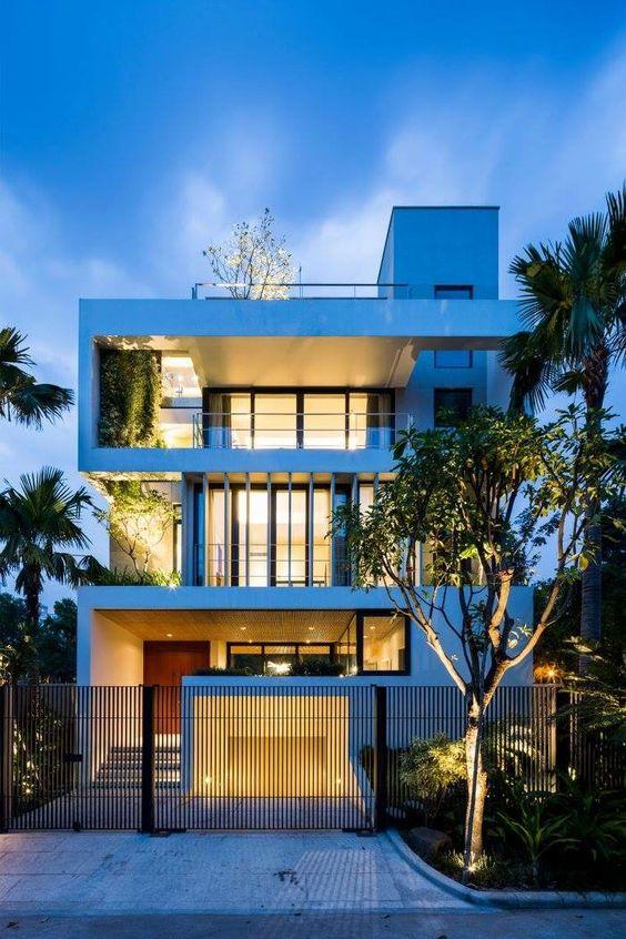 mẫu biệt thự hiện đại 3 tầng mái bằng 6