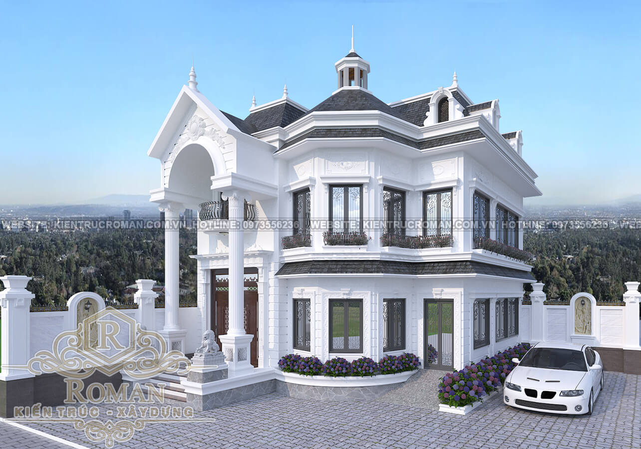 biệt thự 2 tầng phong cách tân cổ điển 15
