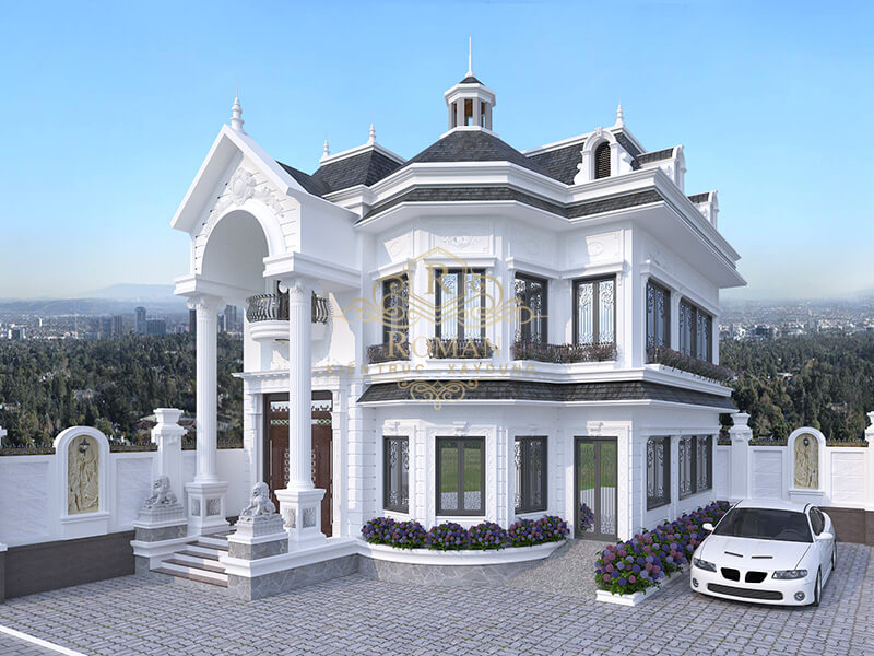 Mẫu biệt thự nhà vườn 2 tầng đẹp nhất hiết kế ấn tượng tại Hóc Môn