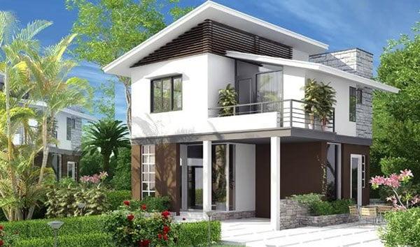 mẫu thiết kế biệt thự vườn 2 tầng đẹp mới nhất 13