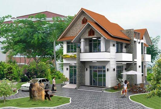 mẫu thiết kế biệt thự vườn 2 tầng đẹp mới nhất 15
