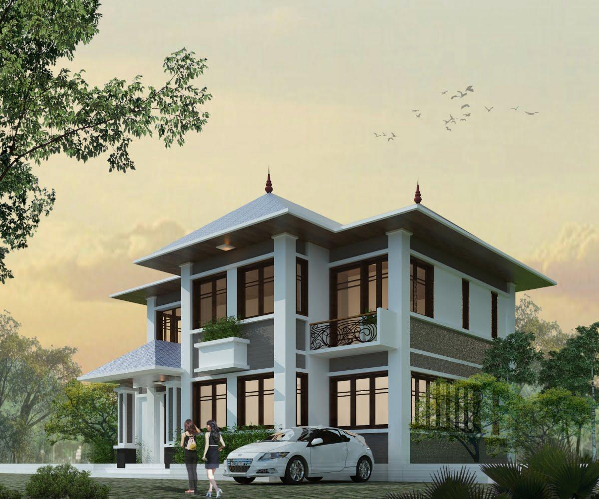 mẫu thiết kế biệt thự vườn 2 tầng đẹp mới nhất 3