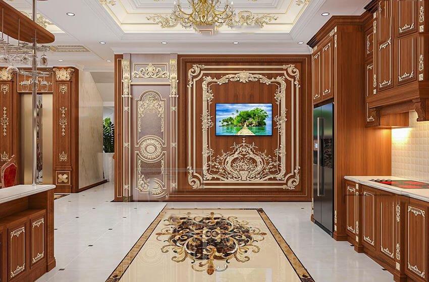mẫu dinh thự 2 tầng đẹp hành lang