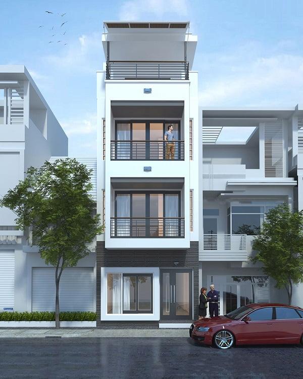 mẫu thiết kế kiến trúc nhà phố đẹp hot nhất xu hướng hiện nay 12