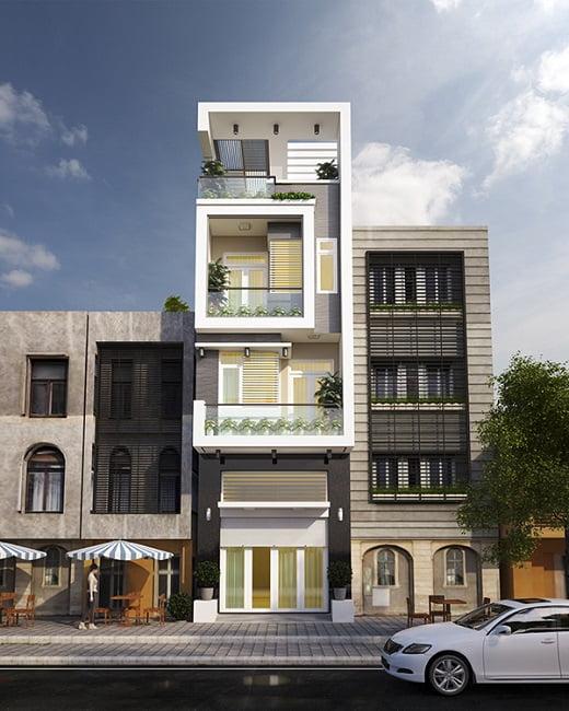 mẫu thiết kế kiến trúc nhà phố đẹp hot nhất xu hướng hiện nay 2