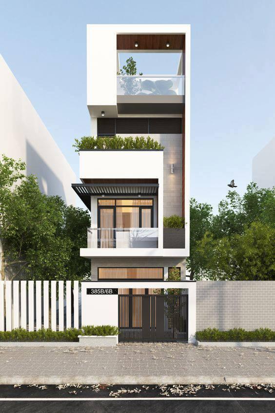 mẫu thiết kế kiến trúc nhà phố đẹp hot nhất xu hướng hiện nay 6