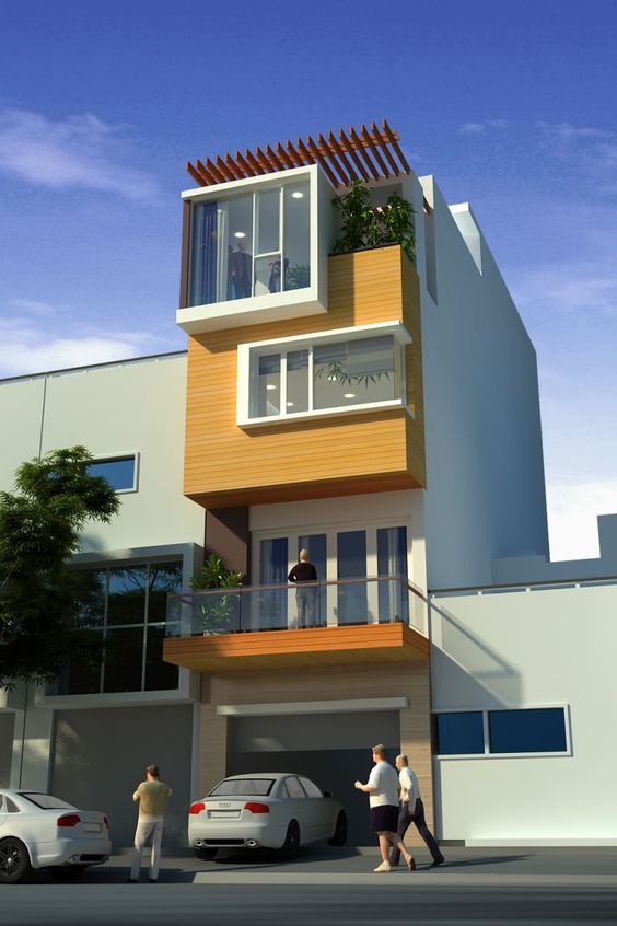 mẫu thiết kế kiến trúc nhà phố đẹp hot nhất xu hướng hiện nay 9