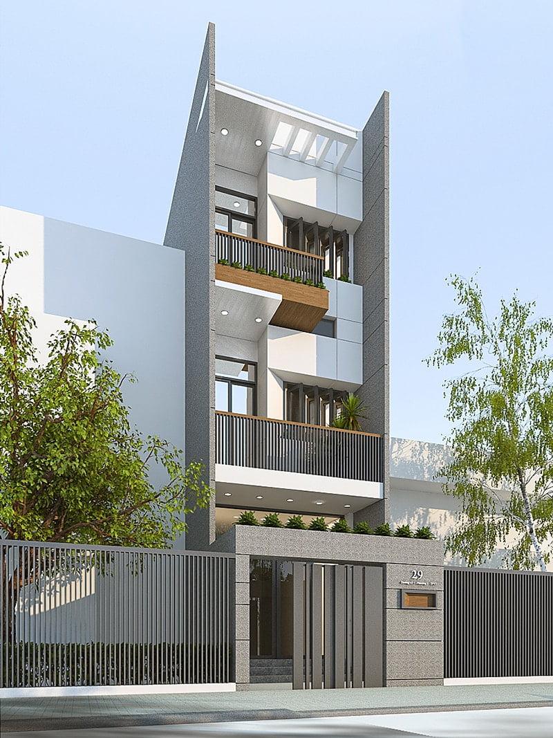 mẫu nhà phố mặt tiền 5m 3 tầng 20