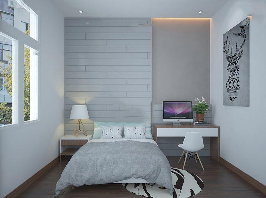 mẫu mặt tiền nhà phố đẹp phòng ngủ