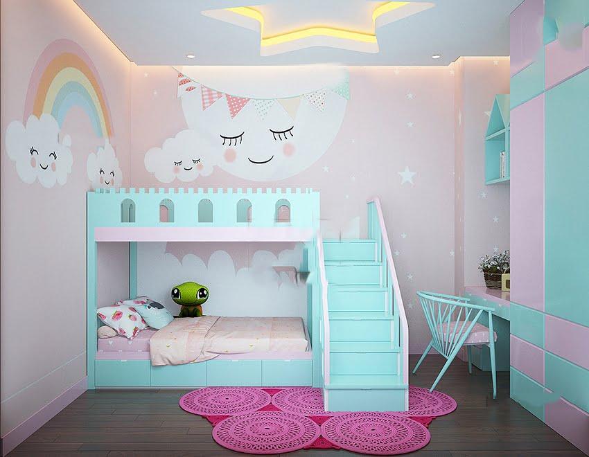 mẫu mặt tiền nhà phố đẹp phòng trẻ em
