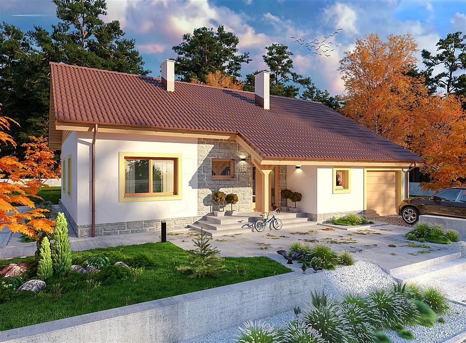 mẫu nhà 1 tầng đơn giản đẹp 14