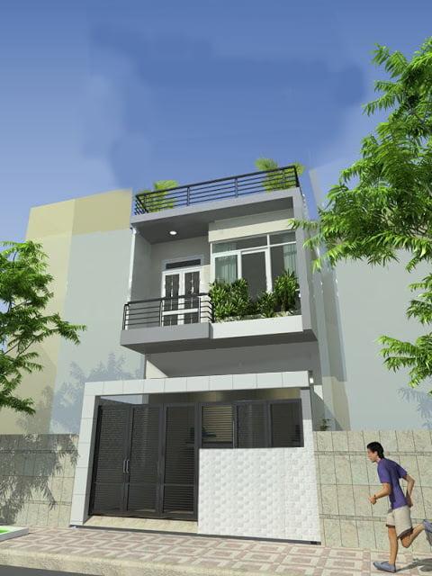 mẫu thiết kế nhà 2 tầng 100m2 đẹp 6