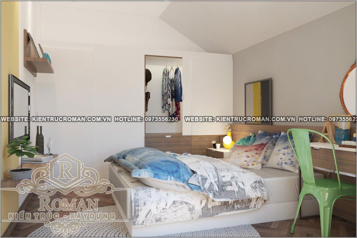 phòng ngủ mẫu nhà 2 tầng dẹp độc đáo