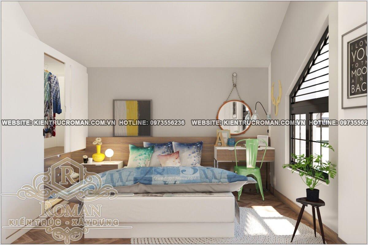 phòng ngủ mẫu nhà 2 tầng đẹp độc đáo