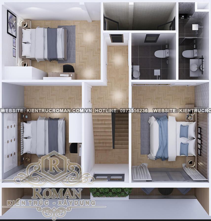 lầu 1 mẫu nhà 2 tầng đơn giản mà đẹp
