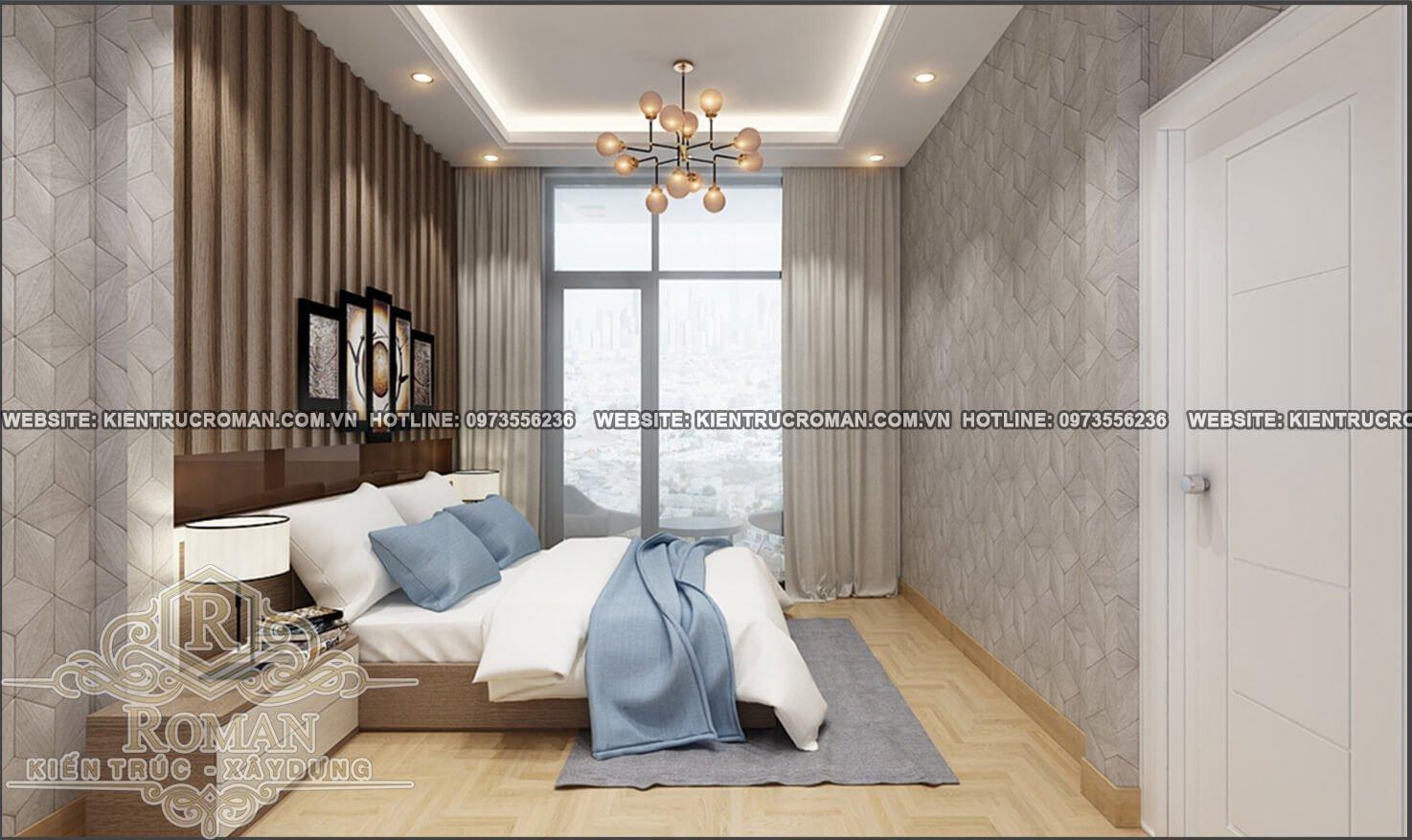 phòng ngủ mẫu nhà 2 tầng đơn giản mà đẹp