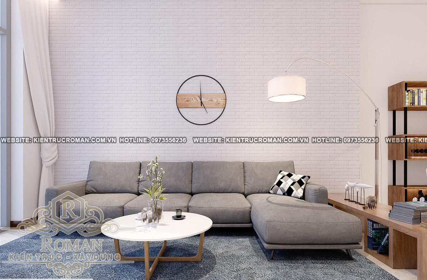 phòng khách mẫu nhà 2 tầng đơn giản mà đẹp