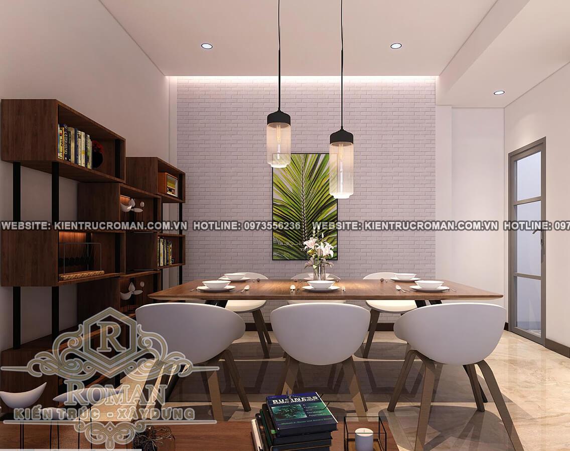 phòng ăn mẫu nhà 2 tầng đơn giản mà đẹp