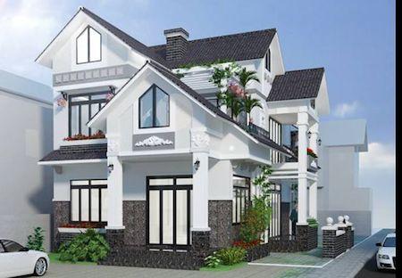 mẫu nhà 2 tầng mái ngói đẹp 13