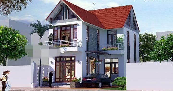 mẫu nhà 2 tầng mái ngói đẹp 17