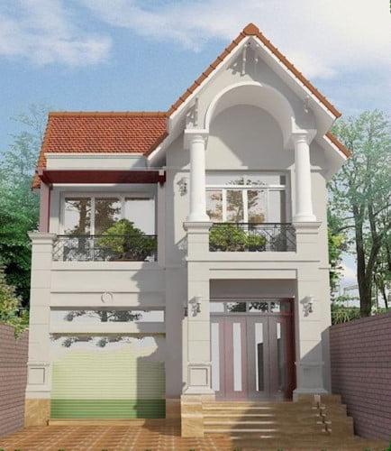 mẫu nhà 2 tầng mái ngói đẹp 9