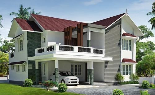 mẫu nhà 2 tầng mái ngói đẹp 18
